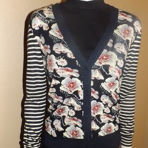 Tory Burch 100% Wool Cardigan